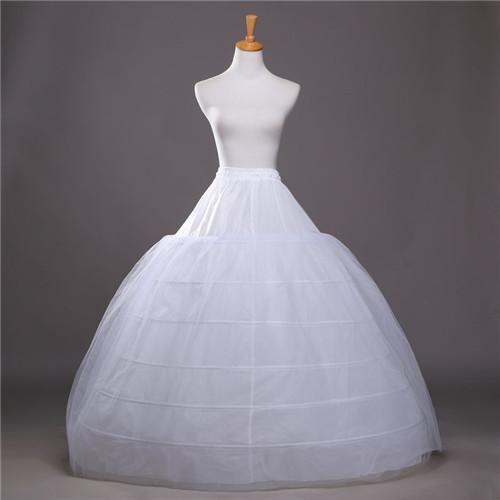 JAEDEN Ball Gown Petticoats For Wedding Dresses Elastic 6 Hoops One Tiers Dress Underskirt Crinoline Wedding Accessories 2016(China (Mainland))