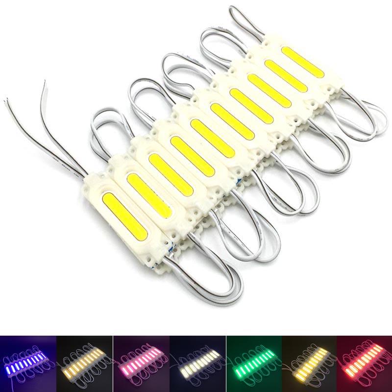 100pcs COB LED Module Lighting for Sign DC 12V Waterproof IP67 Advertising led Modules White/Warm White/Green/Blue/Yellow/Pink(China (Mainland))