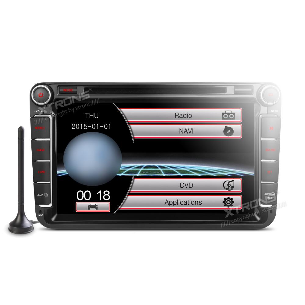 """XTRONS 8"""" Car DVD Player 2 din GPS Navigation DVB-T & Screen Mirror for Volkswagen vw Golf Passat Caddy Jetta Touran/Seat/Skoda(China (Mainland))"""