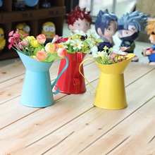 Beautful Creative Red color Vase Taking Photo Decor Home Decor Flower Metal Bottle Free Shipping(China (Mainland))