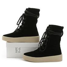 2016 Nuevas Mujeres Del Otoño 100% Zapatos de Cuero Genuinos Martin Botas invierno Mujeres Botines Base Gruesa de Nieve Botas Zapatos de Mujer zapatos(China (Mainland))