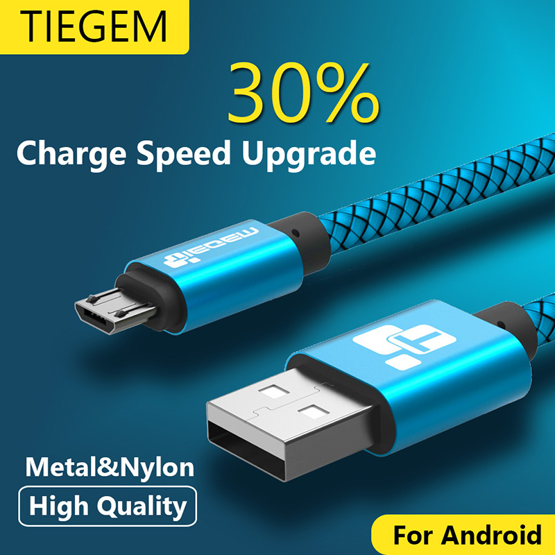 Micro USB Cable 2A 1m Fast Charging Nylon USB Sync Data Mobile Phone Android Adapter Charger Cable for Samsung Sony HTC LG Cable(China (Mainland))