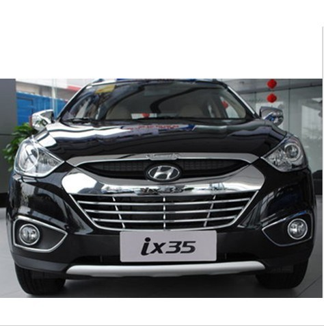 Free shipping 2009-2012 Hyundai ix35 ABS Chrome Front Grille Around Trim Racing Grills Trim<br><br>Aliexpress
