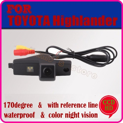 color CCD HD car rear view camera parking camera rear view system car security for TOYOTA Highlander night vision free shipping(China (Mainland))