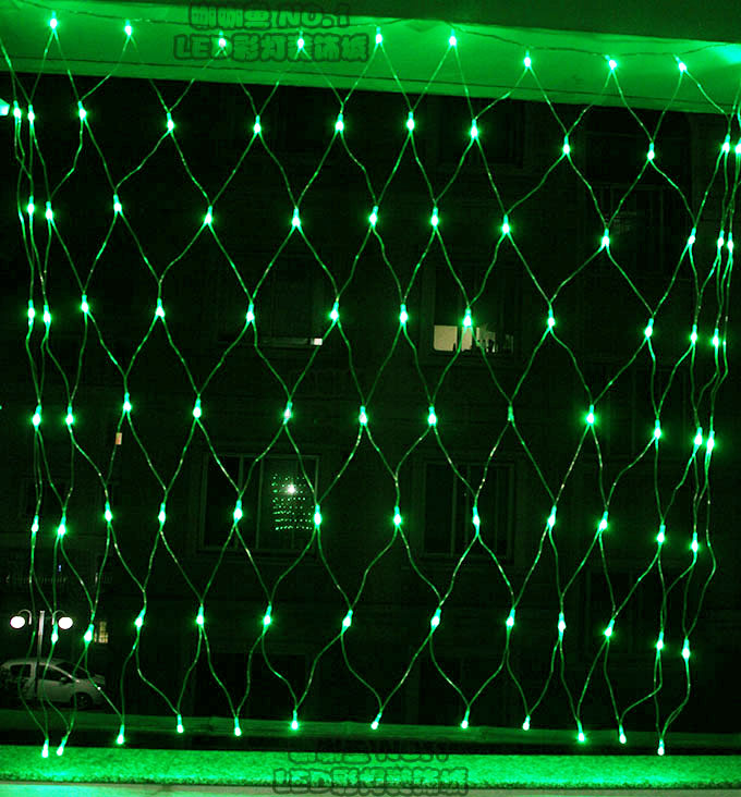 A20ag Led net lights 96leds lantern string light decoration lamp garden 1.5 x1.5meters plug ...