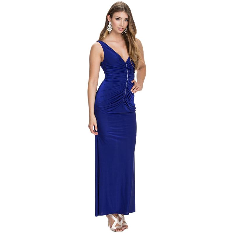 RA80070 Best design V-neck drape sexy club dress 2016 blue beige maxi dresses long show your nice body fashion women dress(China (Mainland))