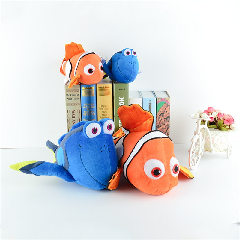 Finding Nemo plush toys, Nemo and Dory fish Stuffed Animal Soft stuffed doll Xmas gift(China (Mainland))