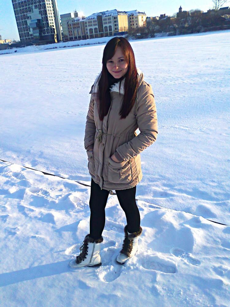 004kahki cotton coat