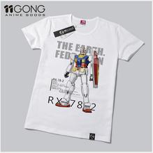 New Fashion Mobile Suit Gundam Pattern Shirt Anime Products Gundam T-shirt Men and woman Top Free Shipping