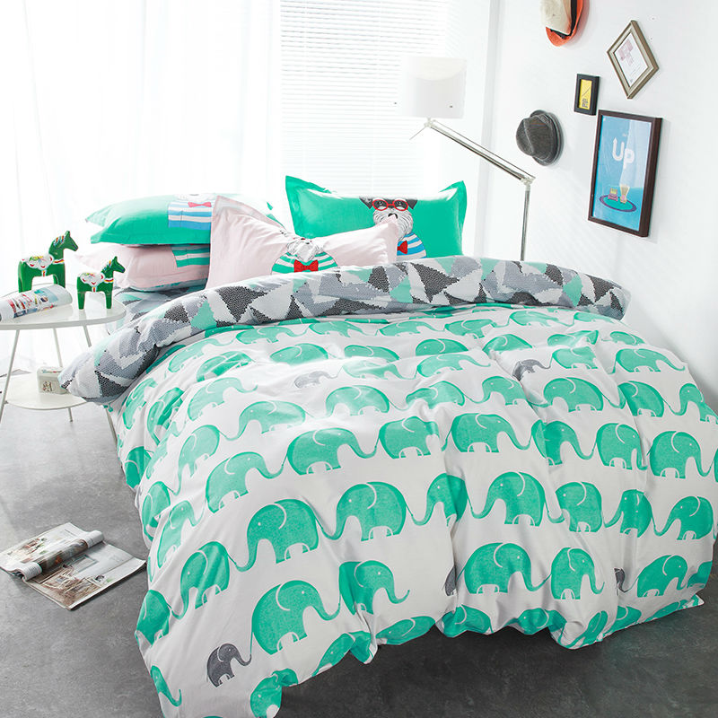twin elephant bedding promotion shop for promotional twin. Black Bedroom Furniture Sets. Home Design Ideas