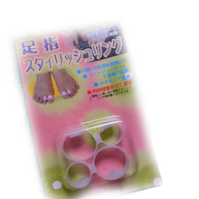 Hot New Slimming Silicone Foot Massage Magnetic Toe Ring Fat Weight Loss Health Foot care