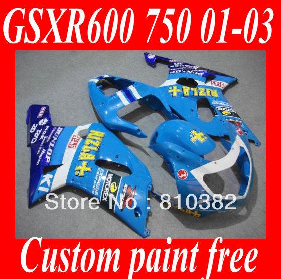 First-class Fairing kit SUZUKI GSXR600 750 01 02 03 GSXR 600 GSX-R750 K1 2003 2001 2002 RIZLA blue Fairings set+7gifts SM41 - FAIRING KIT Co. Ltd store