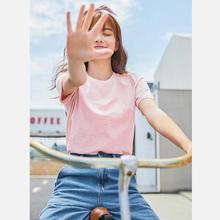 Camiseta de SEMIR para mujer nuevas camisetas de algodón 100% para mujer 2019 vogue Vintage Camiseta de algodón para mujer Camisetas cuello redondo de manga corta(China)