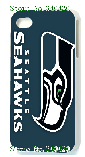 online-custom Seattle Seahawks white hard cases for IPHONE 5 5s +free shipping(China (Mainland))