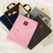 A4 Canvas File Folder Bag Office Supplies Bag Multi-function Portable Oxford Document Bag School supplies(China (Mainland))