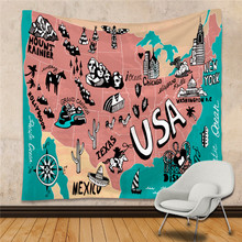 1pc world map tapestry wall hanging tapestry rectangle polyester cotton luxury fashion tapestry living room decoration