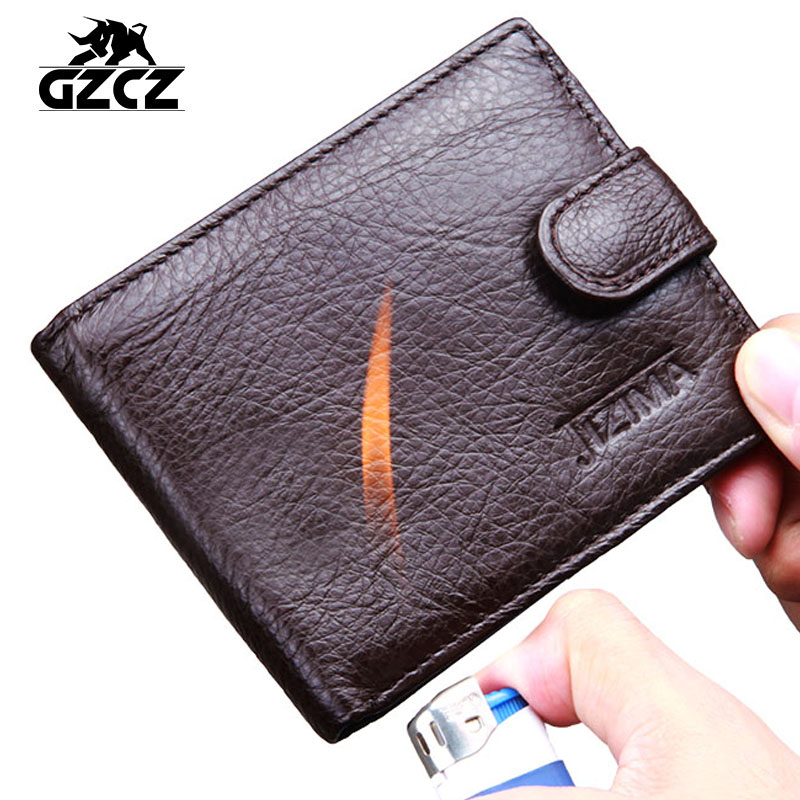 HOT Genuine Leather Men Wallet Luxury Brand Design Wallet for Men Best Cool Bifold Small Slim Money Clip Front Pocket Male Purse(China (Mainland))