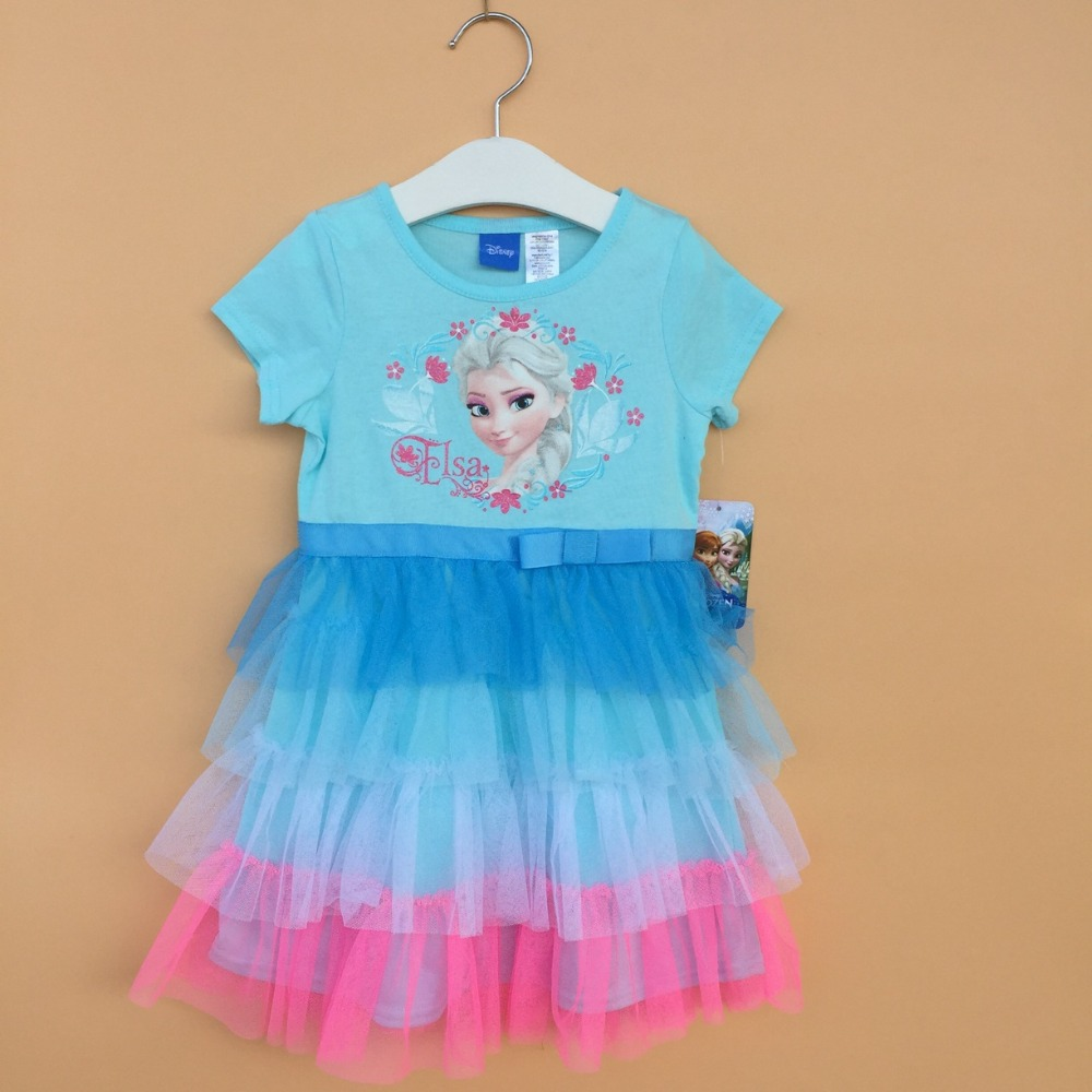 Baby Girls Fashion Tutu Dresses Girls Blue Princess Dress Children Kids Summer Clothing<br><br>Aliexpress