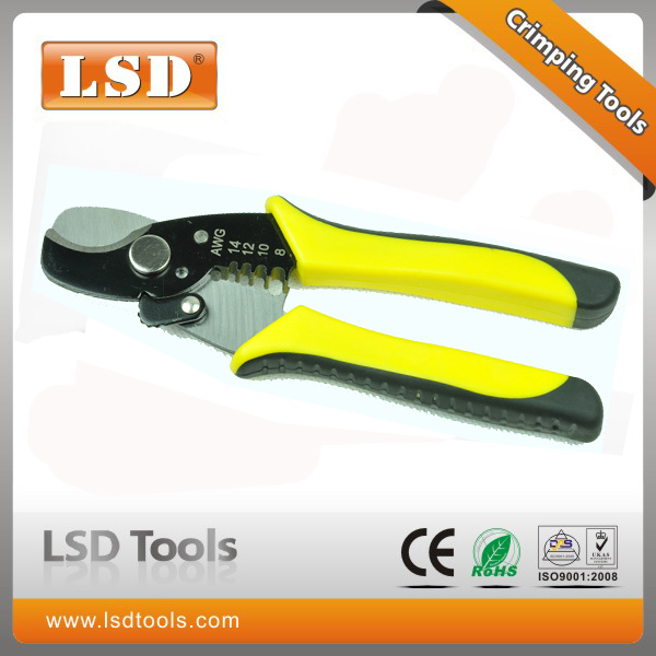 2 in 1 multi functon tools LS-206B hand tool for stripping and cutting wires mini cable cutter ,wire stripper multi tool(China (Mainland))