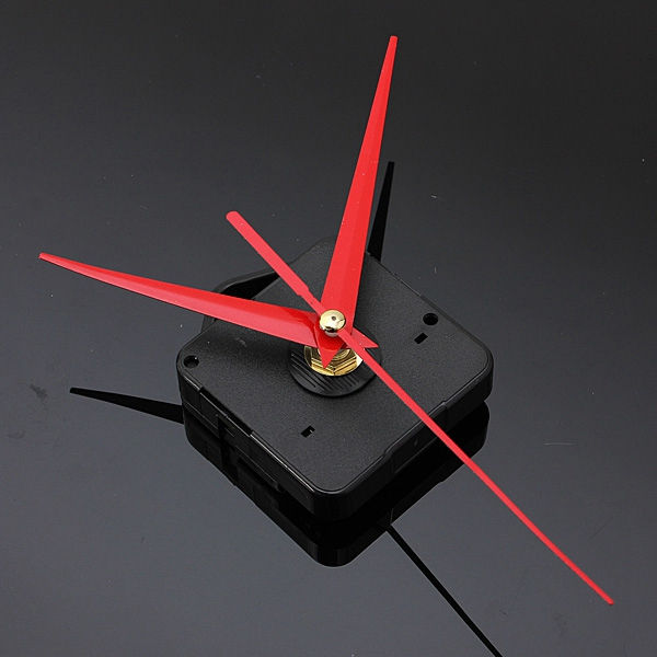 Red Triangle Hands DIY Quartz Black Wall Clock Movement Mechanism Repair Part Wholesale(China (Mainland))