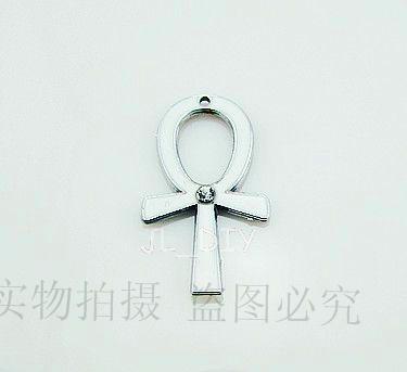 El0137 charm metal cross pendant keychain charms 100pcs/lots(China (Mainland))