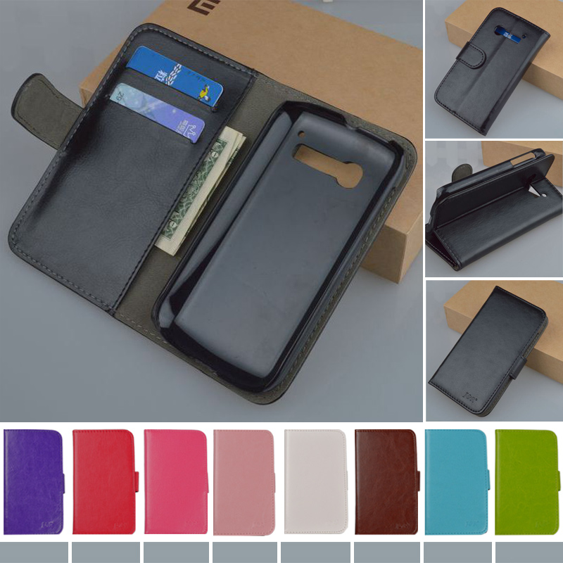 Original J&R brand Wallet PU Leather Stand Flip Case For Alcatel One Touch Pop C5 5036 OT5036 5036D phone bag cover 9 Colors(China (Mainland))