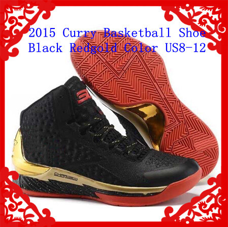 2015 MVP Stephen Newest Mens Brand Basketball Shoes Sneakers Of Curry 1st Lace-Up Free Shipping Black Redgold Color(China (Mainland))