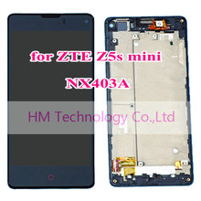 Black LCD+TP+Frame for ZTE Nubia Z5s mini NX403A LCD Display+ Touch Screen Digitizer Assembly with Frame/Bezel Repair FreeHKPost