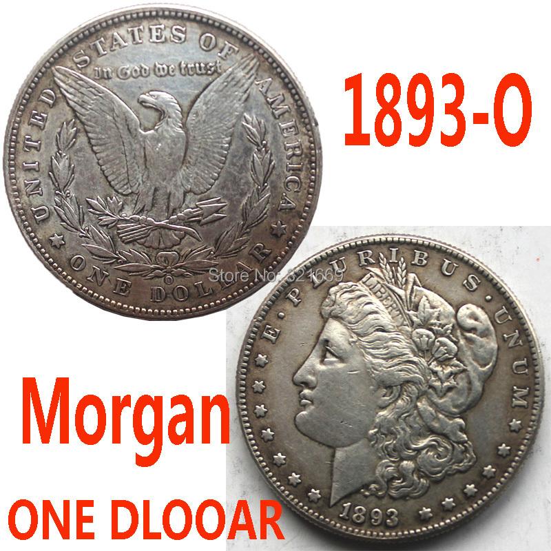 O series Morgan Silver 1893 ONE DOLLAR/United States Morgan 90% Silver Dollar Copy Coins/Close to Original Coins / Free Shipping(China (Mainland))