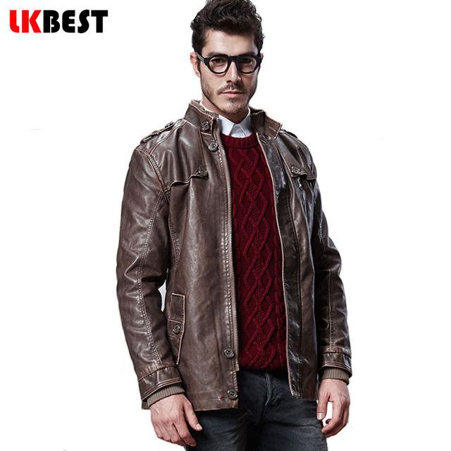 2016 Плюс размер М-4XL длинные мужчины замши зима теплая куртка мужские кожаные куртки ...