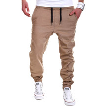 Hot 2016 Spring New Korea Men's Baggy Cargo Harem Pants Men Jeans Overalls Casual Trousers 3 colors Available Size M-2XL xA8810(China (Mainland))