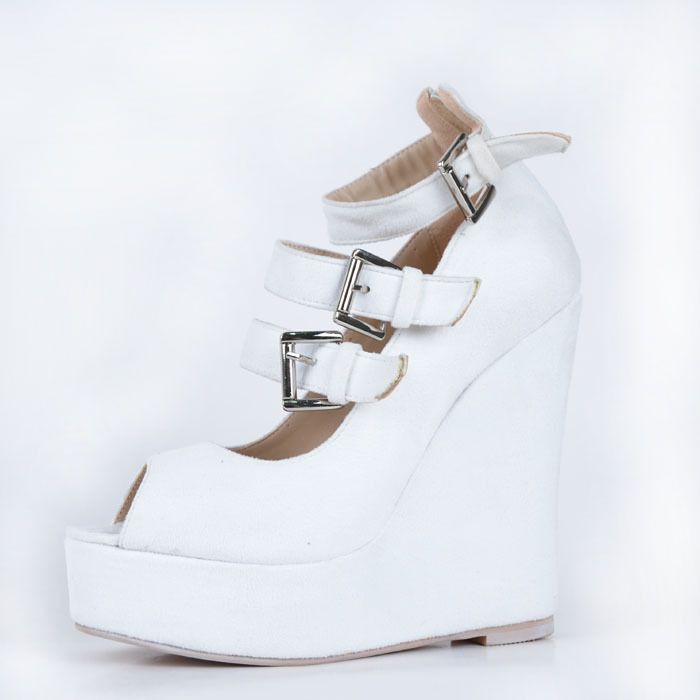 White Peep Toe Wedges Promotion-Shop for Promotional White Peep