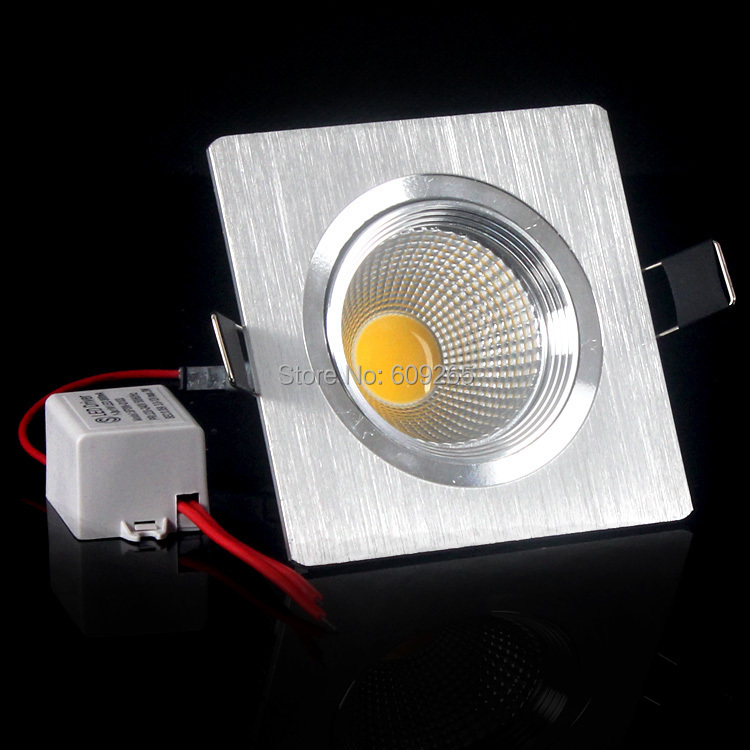 Гаджет  1X Dimmabel COB Led Square Ceiling Spot Light 3W 5W  7W  Recessed AC85-265V Cold/Warm white downlight High power Brightness None Свет и освещение