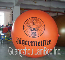 Top Selling 2 meters Orange Inflatable Advertising Helium Balloon with your BIG Logo/DHL Free Shipping(China (Mainland))