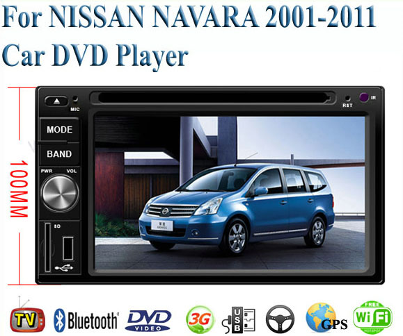 2 Din Car DVD Player Fit NISSAN NAVARA 2001 - 2005 2006 2007 2008 2009 2010 2011 GPS TV 3G Radio WiFi Bluetooth Wheel Control(China (Mainland))