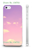 Mobile Phone Case Retail 1pc pink Protective White Hard Back Case For IPHONE 5 5s Free Shipping