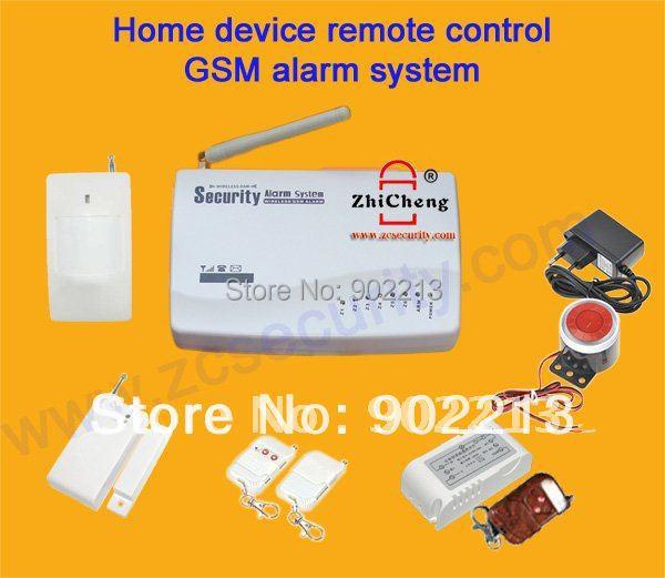 Для дома безопасность gsm сигнализация система с беспроводная переключатель пульт дистанционного управления по телефон