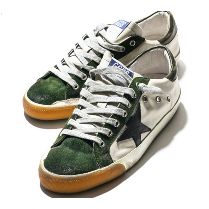 HOT 2016 fashion green sapatilha Golden Goose shoes men women Low top casual shoes GGDB leather canvas old casual flat shoes A1<br><br>Aliexpress