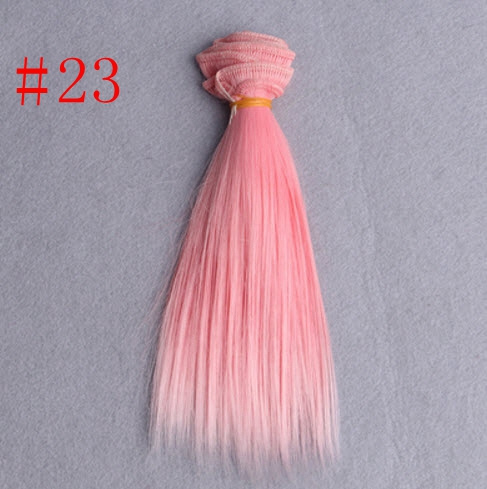 15*100cm Gradient Colour DIY Wig Excessive Temperature Wire Straight Hair For Barbie Doll BJD Dolls DIY Pink Purple Rose Inexperienced Purple