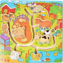 Children Baby 3D Puzzle Farm Animal Maze Child Wooden Toys Little Boy Girl Funny Toy Help Go Back Home Early Education(China (Mainland))