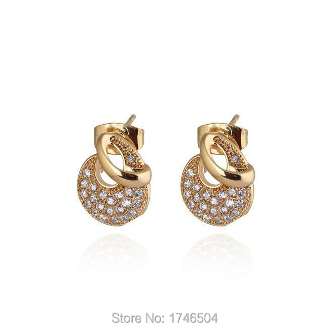 New Fashion Arrivals Wedding Jewelry Awesome Design: 2015 Fashion New Arrival Gold Plated Unique Design Stud