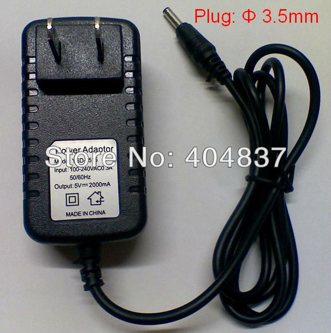 tracking universal EU US 5V 2A tablet pc power adapter charger 2.5mm/3.5mm flytouch/SuperPad/Ainol/Cube - LJF Store store