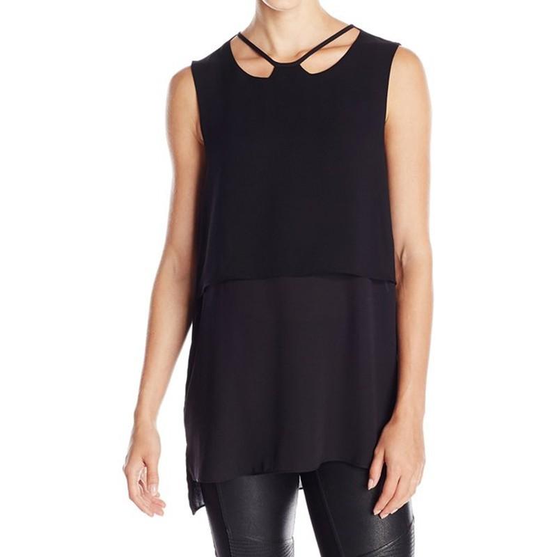 New summer black tops tank women sleeveless vest tank tops for Black sleeveless shirt womens