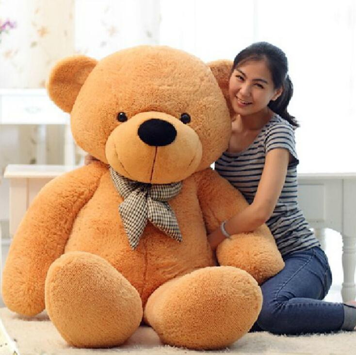100CM Giant Teddy Bear Plush Toys Stuffed Ted Cheap Pirce Gifts for Kids Girlfriends Christmas P0209(China (Mainland))