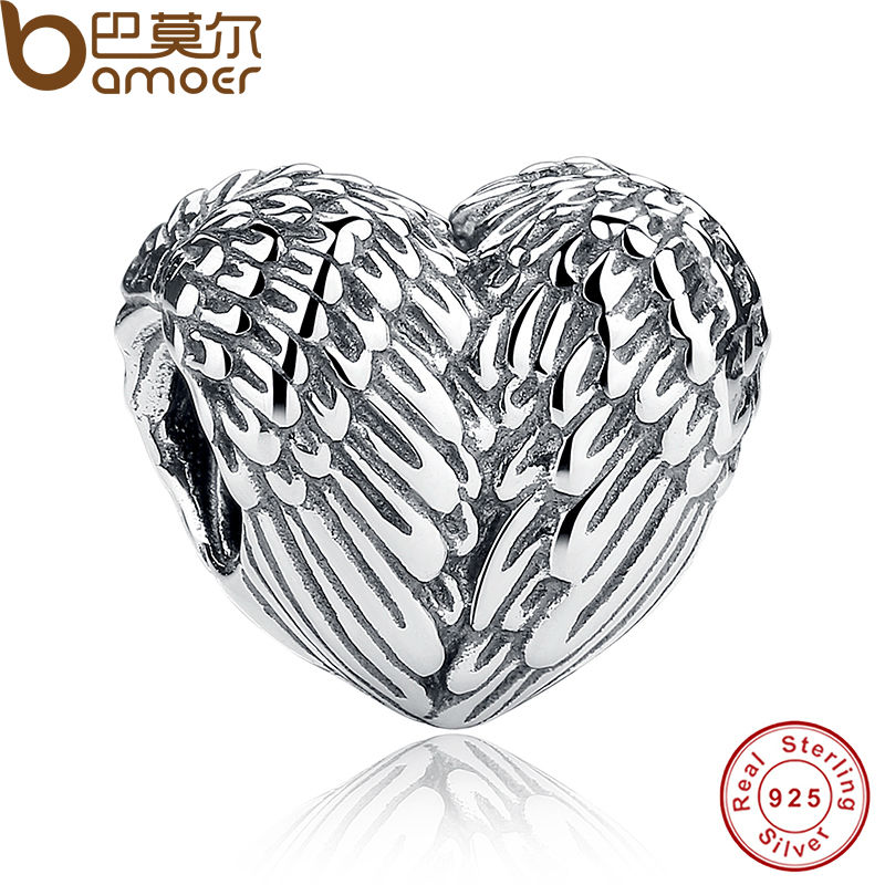 Sculptural 925 Sterling Silver Angelic Feathers Wings Charm Fit Original Pandora Bracelet Silver 925 Jewelry Making PS033(China (Mainland))