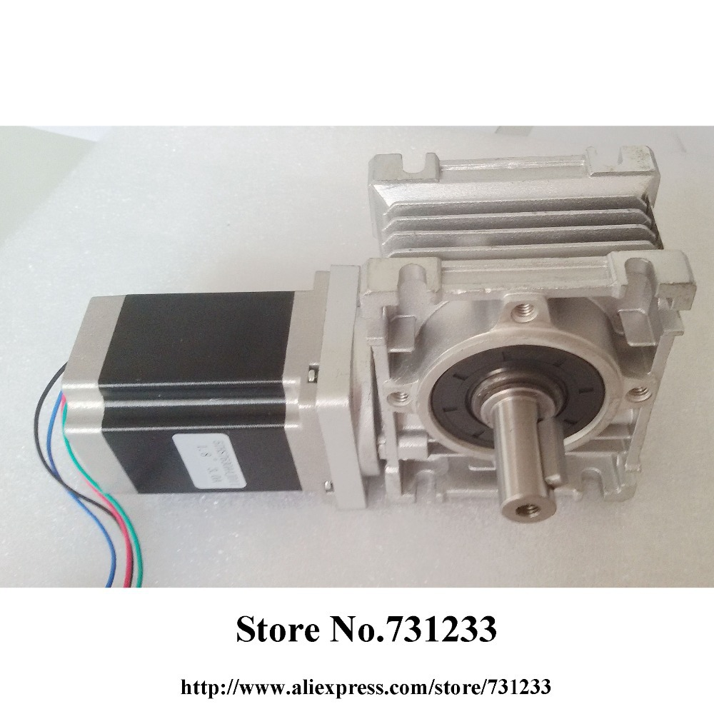 Buy nema 23 worm gearbox stepper motor ce for Stepper motor gear box