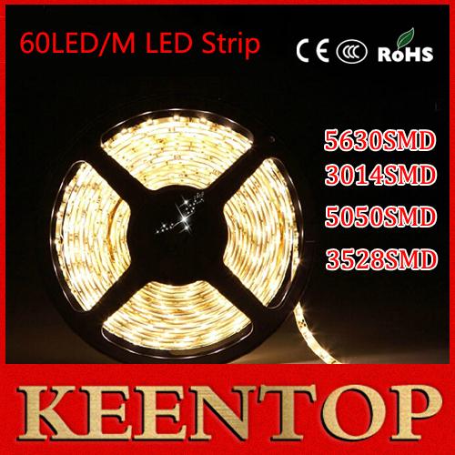 5M fita led 5050/3014/3528/5730/5630 led flexible RGB strip string Ribbon light 12V non/ip65 waterproof Ribbon tape lamp 300Leds()