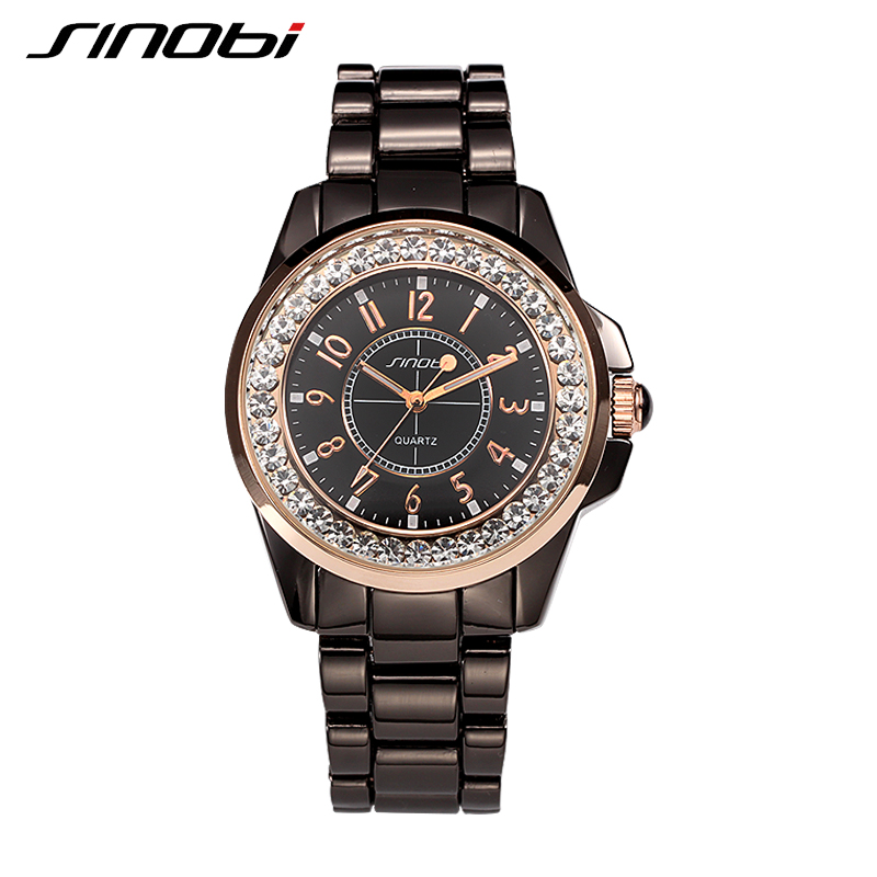 SINOBI high quality PU band quartz watch women men luxury lovers live watch waterproof Couples watch<br><br>Aliexpress