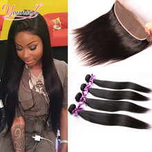 Malaysian Frontal Closure With Bundles Full Frontal Lace Closure 13×4 With Bundles Cheap Straight Human Hair Bundle With Closure