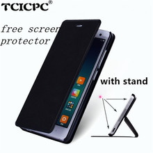 "Buy Xiaomi redmi 3 case redmi 3 pro redmi 3s leather cover luxury fundas flip cover hongmi 3 redmi3 pro 5.0"" free gift for $4.49 in AliExpress store"